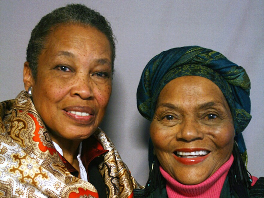 Ellaraino, right, spoke about her late great-grandmother with her friend Baki AnNur at StoryCorps in Los Angeles, in 2011.