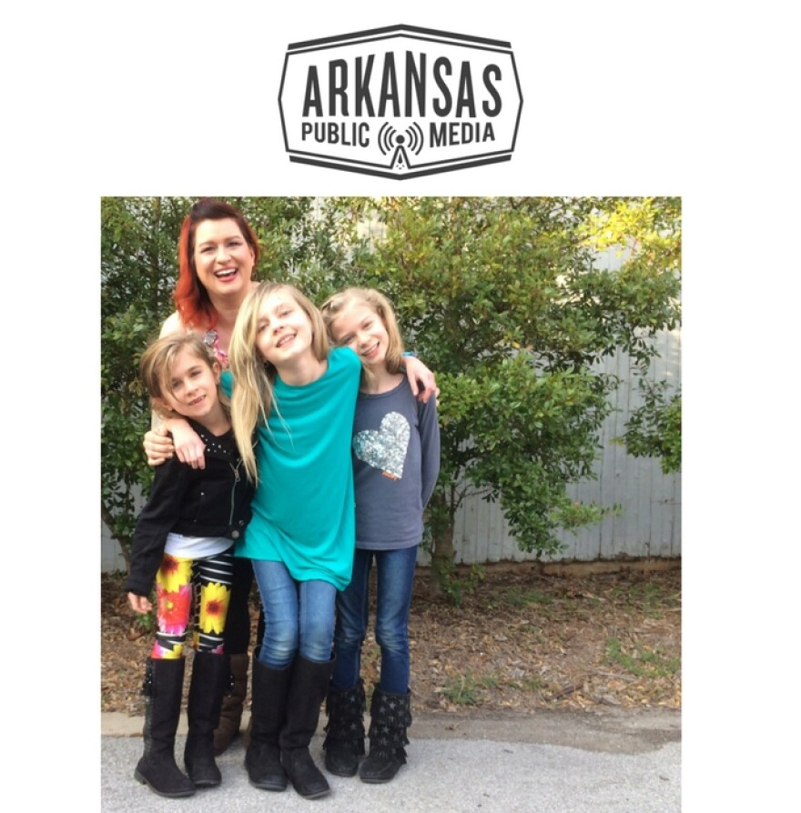 Mom, Alarie Bowerman, with daughters, Emory, Anais and Elise.  Emory and Anais are the first two documented cases of Arkansas Lyme disease contracted in-state.