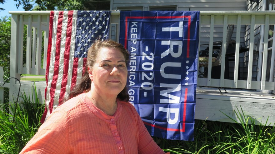 Deb Ibanez, who proudly displays Trump banners and lawn signs outside her home in Aitkin, Minn., is part of President Trump's firm base in this rural part of the state. Ibanez says she's worried about voter fraud and doubts about the outcome of the election.