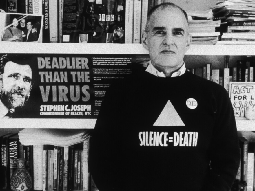 Writer and activist Larry Kramer, here in 1989, was an unapologetically loud and irrepressible voice in the fight against AIDS.