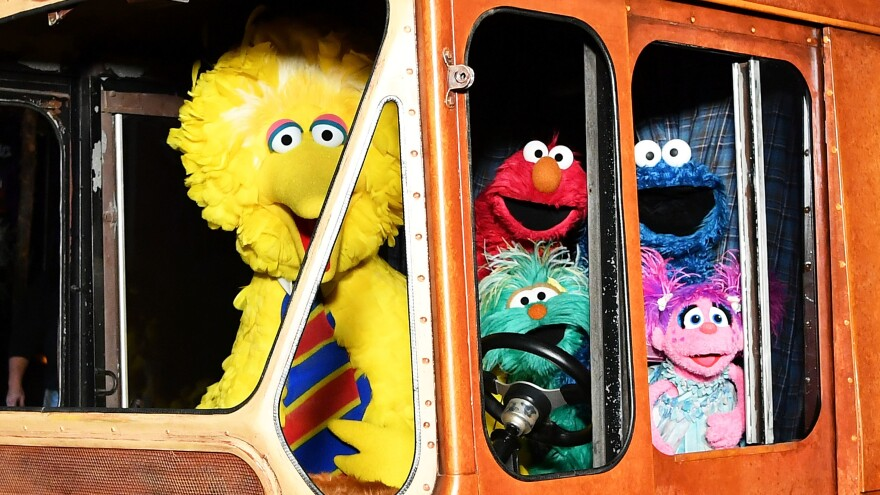 <em>Sesame Street</em>'s Big Bird, Elmo, Cookie Monster, and Abby Cadabby attend HBO Premiere of Sesame Street's The Magical Wand Chase at the Metrograph in 2017 in New York City.