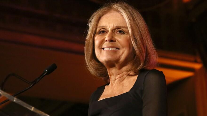 Gloria Steinem speaks at an awards gala in April.