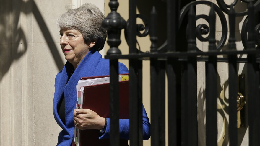 May leaves 10 Downing Street on Wednesday, where she delivered a farewell address before Johnson replaced her as prime minister.