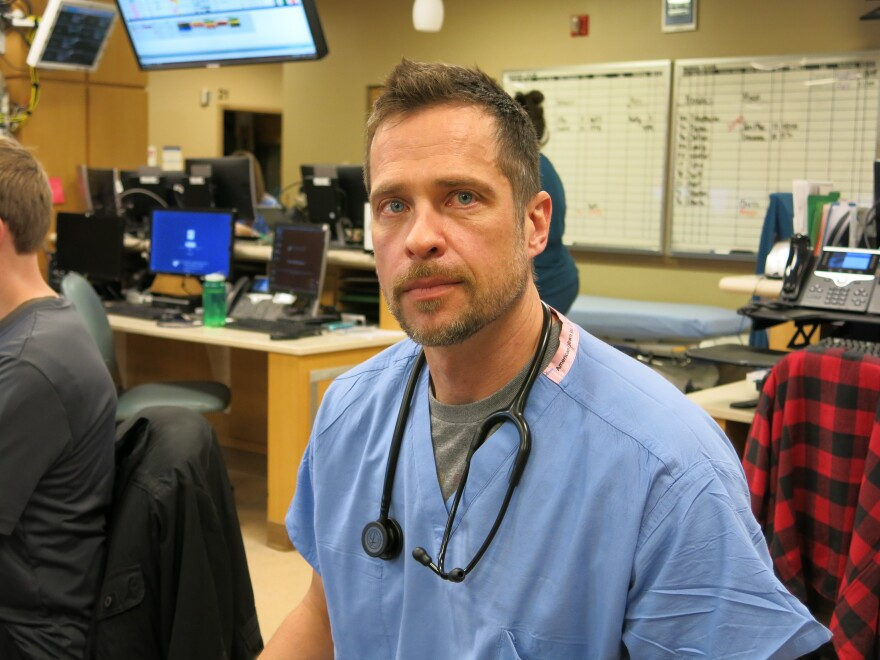 Dr. Peter Bakes is an emergency medicine doctor at Swedish Medical Center. Rather than reaching first for opioids for their patients who have severe pain, doctors in his ER have been trained to turn more often now to safer and less addictive alternative medicines, like ketamine and lidocaine.