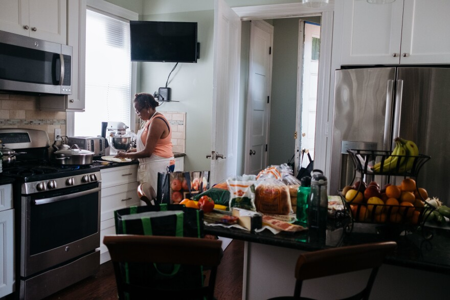 Raymonde Elian is known among family and friends to be a great cook. The kitchen counter is filled with everything she needs to make dinner. The goal of documenting my mother was to capture all the things I knew I'd miss if she were suddenly gone.