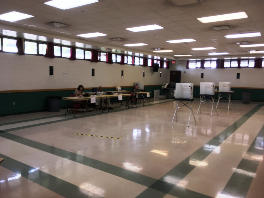 Empty polling place