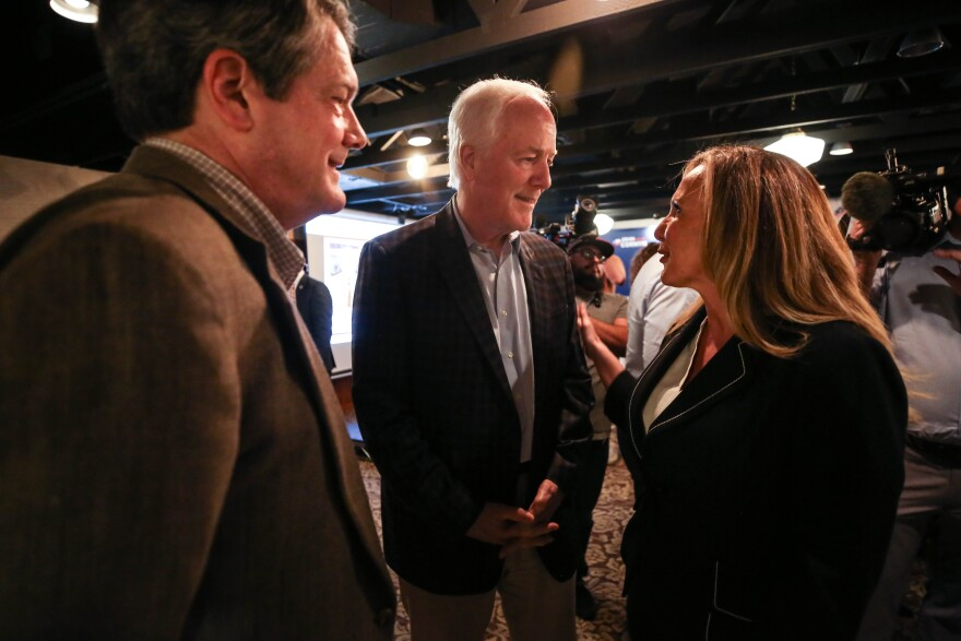 U.S. Sen. John Cornyn attended the GOP watch party in Austin on Super Tuesday.
