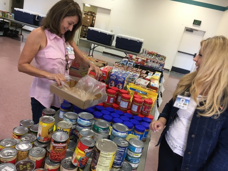 Hundreds of pantries on or near most bases or installations, like this one at Camp Pendleton, are designed specifically for active-duty military families.