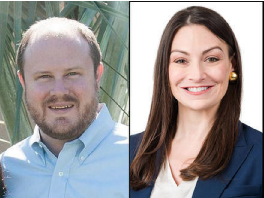 Matt Caldwell, left, beat out opponent Nikki Fried, right, by less than one percentage point.