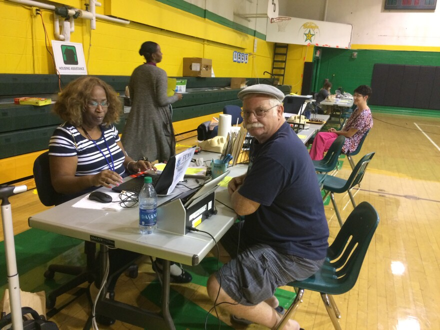McMechen, West Virginia, resident Paul Broski visited the Disaster Recovery Center to get assistance in the wake of July flooding.