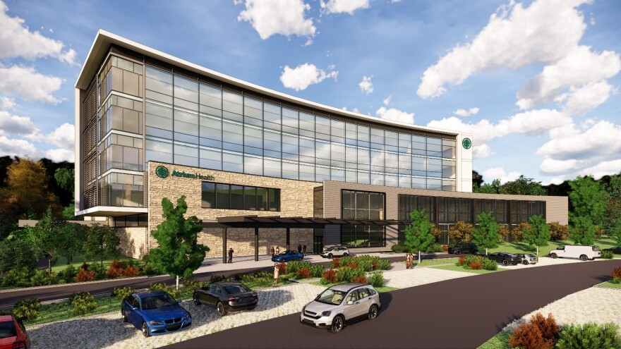 A rendering of what the new Cornelius hospital might look like.