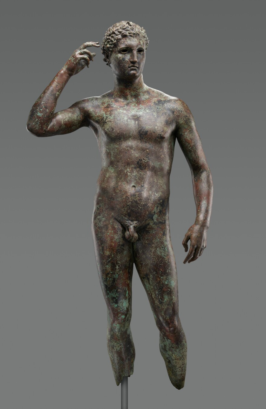 """Ownership of """"Statue of a Victorious Youth,"""" a bronze sculpture of ancient Greek origin, is being disputed. An American museum is trying to keep it."""