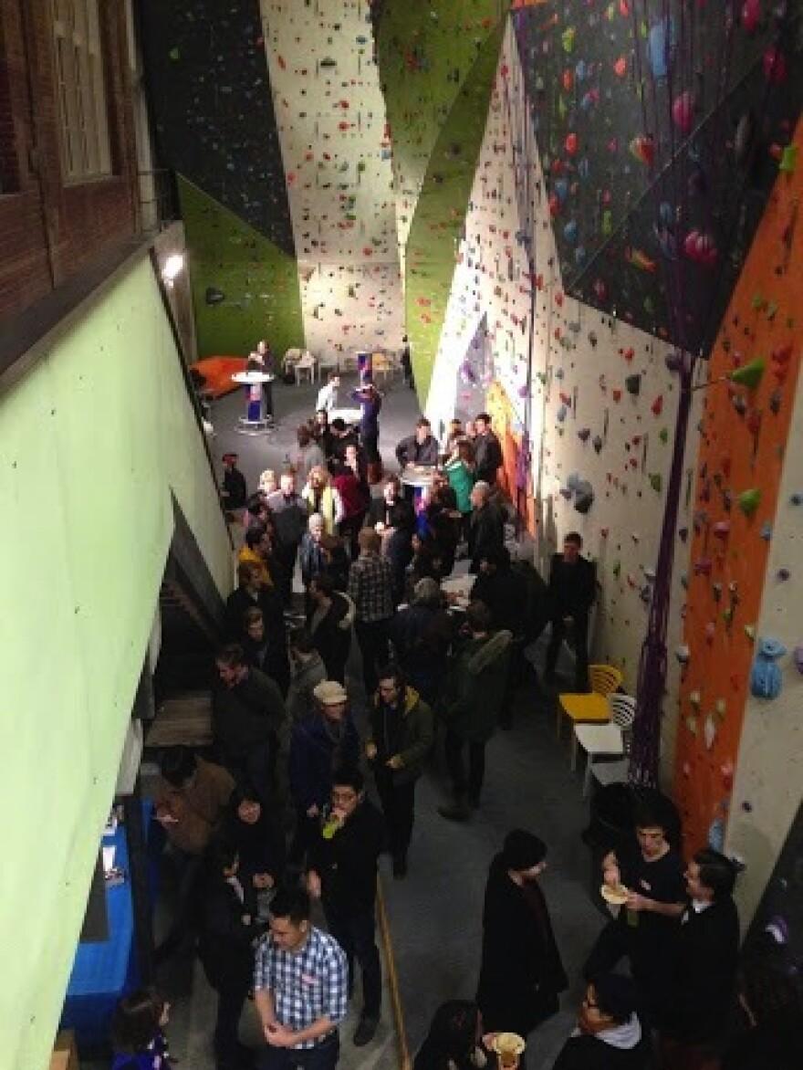A crowd at Climb So iLL