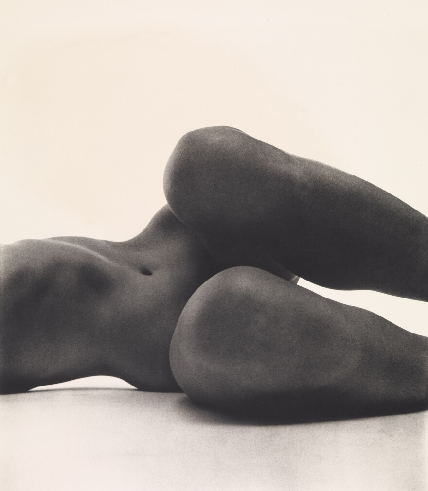 Around the same time he was working for <em>Vogue,</em> Penn spent nights and weekends working on nudes, which were considered pornographic by '50s standards. (Above) <em>Nude No. 58,</em> New York, circa 1950, printed 1976.