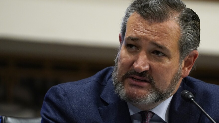 Sen. Ted Cruz, pictured on Capitol Hill on Sept. 24, tells NPR that Judge Amy Coney Barrett should not recuse herself from any Supreme Court decision on the election should she be confirmed.