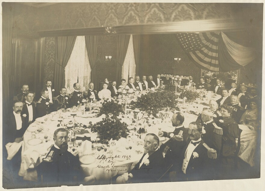 """You can't have the modern American restaurant without Delmonico's,"" explains Yale historian Paul Freedman. The restaurant opened in 1837, setting the bar very high for fine dining. Above, a dinner in honor of an admiral held at Delmonico's in 1906."