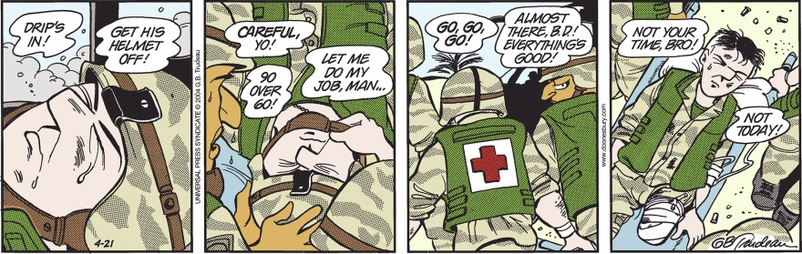<strong>Wednesday, April 21, 2004 </strong><strong></strong><em>DOONESBURY © G. B. Trudeau. Reprinted with permission of ANDREWS MCMEEL SYNDICATION. All rights reserved.</em>