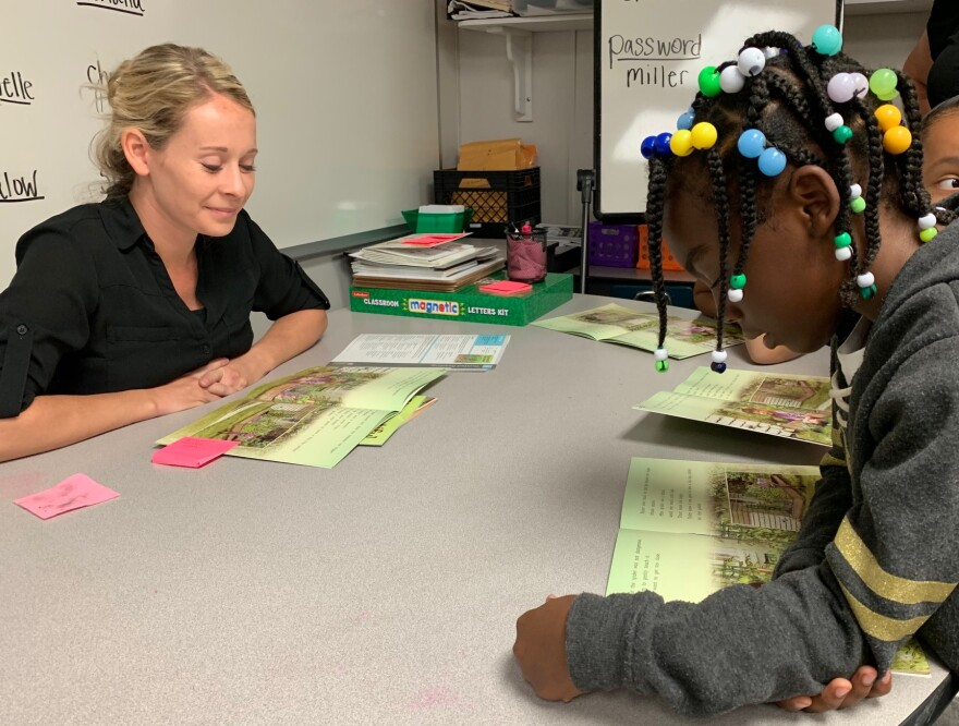 Children practice reading at Summer Learning Academies in Sarasota