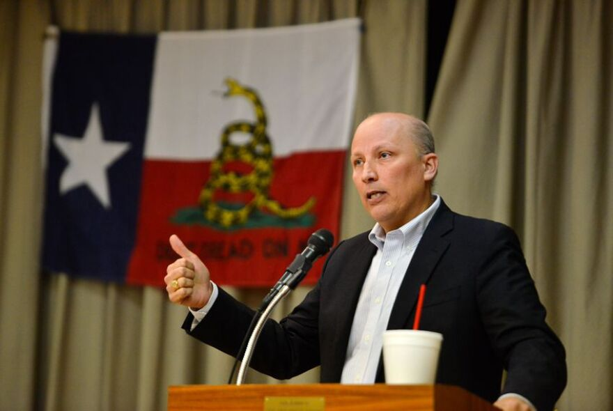 Congressional candidate Chip Roy speaks during a campaign event in New Braunfels on Jan. 22, 2018.