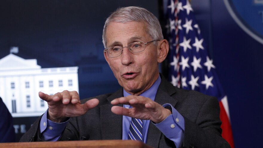 "The country can return ""to a real degree of normalcy"" before a coronavirus vaccine is available, said Anthony Fauci, director of the National Institute of Allergy and Infectious Diseases, at the White House briefing Monday."
