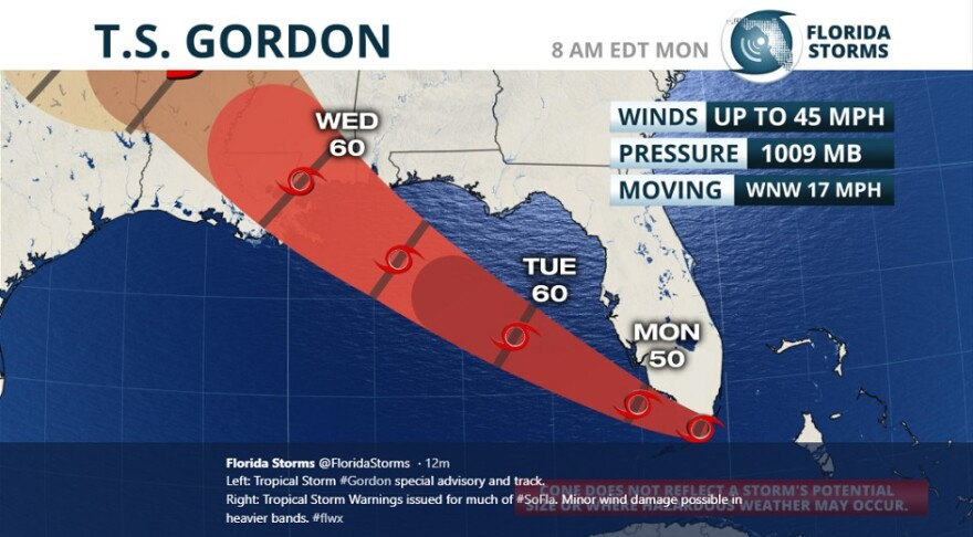 Tropical Storm Gordon is expected to make its way into the Gulf of Mexico this week. It's the 10th named storm of the 2018 Atlantic Hurricane Season.