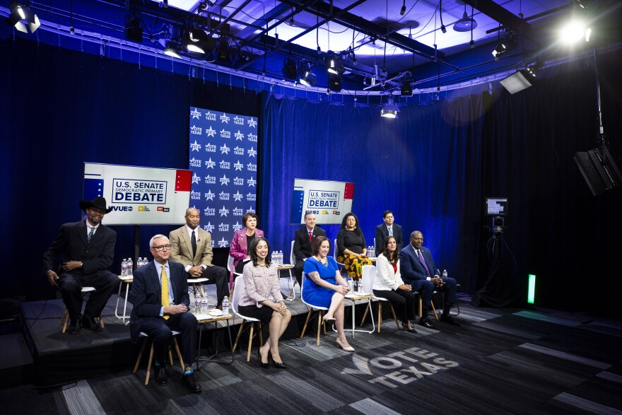 Eleven of the 12 Democratic candidates for Texas' 2020 U.S. Senate race debated in Austin on Tuesday.