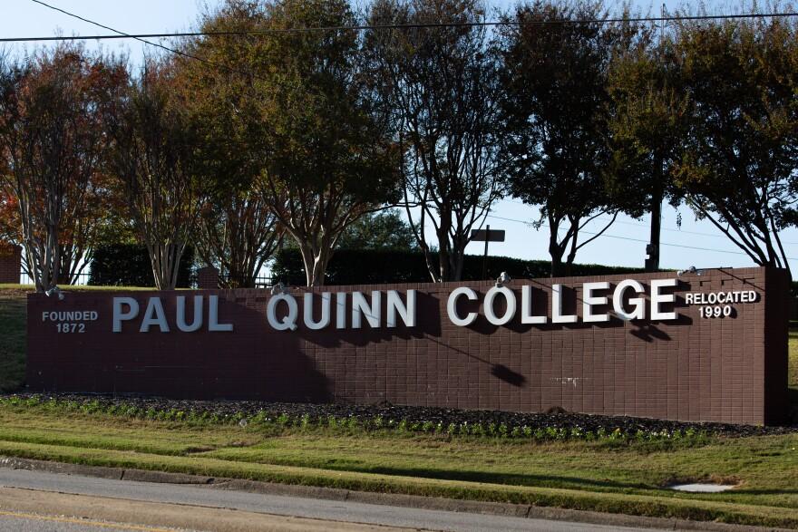 Paul Quinn College sign.