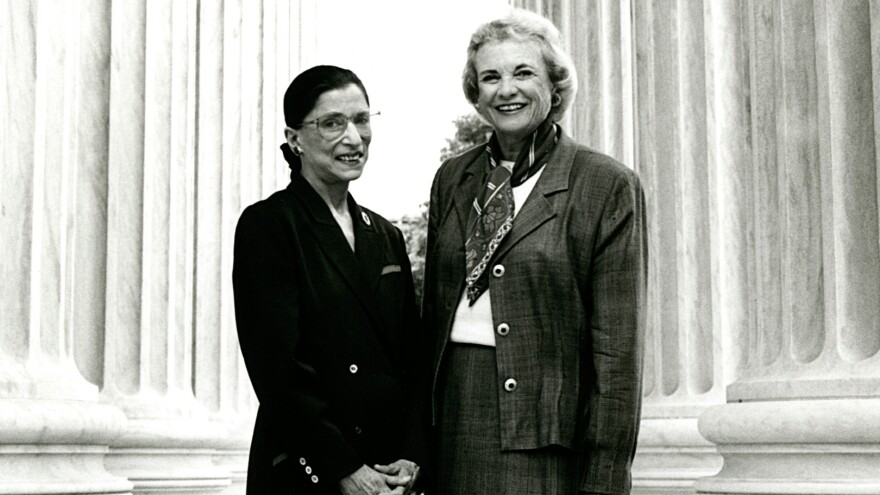 As different as their backgrounds were, and even their approaches to judging, when it came to women's rights, Ruth Bader Ginsburg (left) and Sandra Day O'Connor were allies.