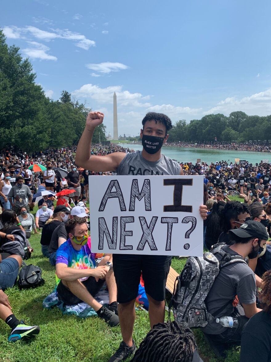 Caleb Rainey, March on Washington 2020