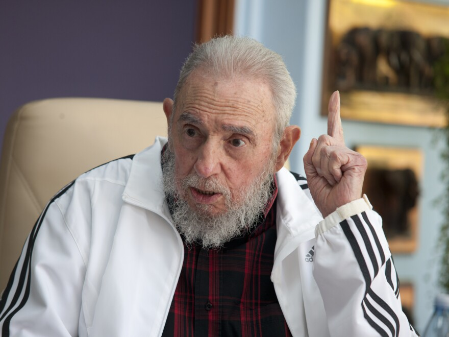 Fidel Castro, seen here in July, was awarded the Confucius Peace Prize, China's version of the Nobel Prize. He was not on hand to receive the award at a ceremony in Beijing on Tuesday.