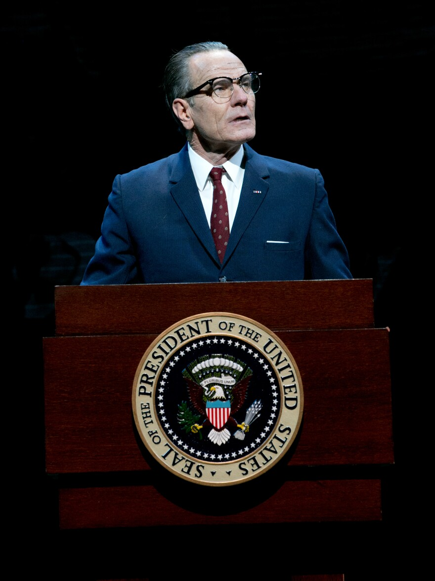 Cranston's current theater project, <em>All the Way</em>, follows Lyndon B. Johnson through 1964, a pivotal year in American history.