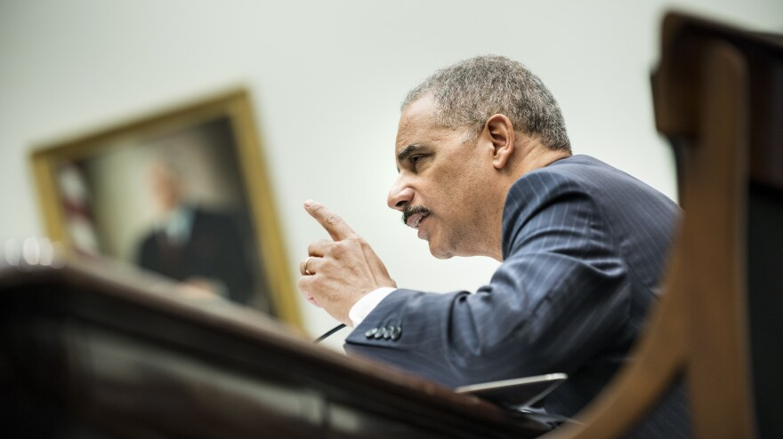 Attorney General Eric Holder testifies on May 15 before the House Judiciary Committee.