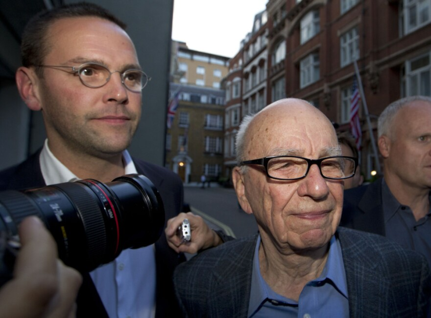 Rupert Murdoch, shown above with his son James (left) last July.