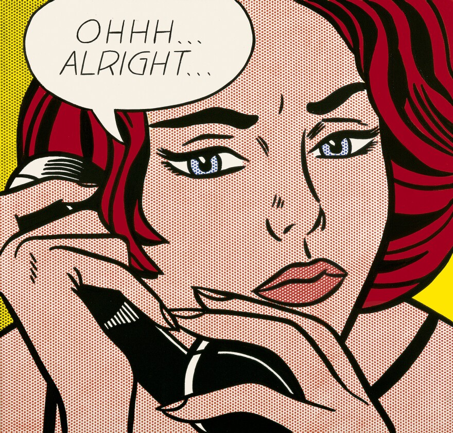 Roy Lichtenstein leaves it up to the viewers to decide what has just transpired in his 1964 painting of a tense phone call titled <em>Ohhh ... Alright ..</em>.
