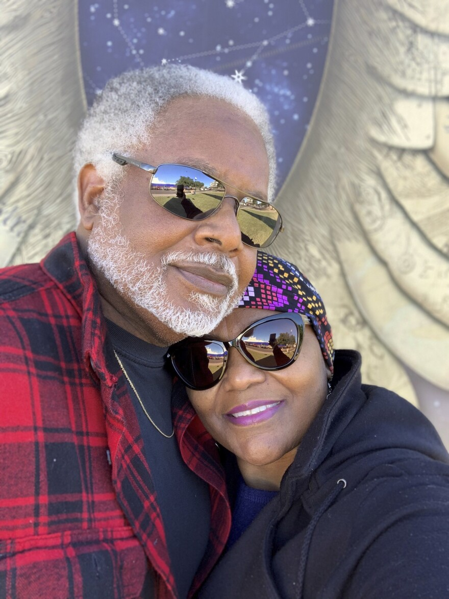 "James McIntyre and his wife Carol in 2017. James was 70 when he died of COVID on July 20, 2020, in Pensacola, Fla. ""I refuse to attach him to a number,"" Carol says. They were married for 36 years."