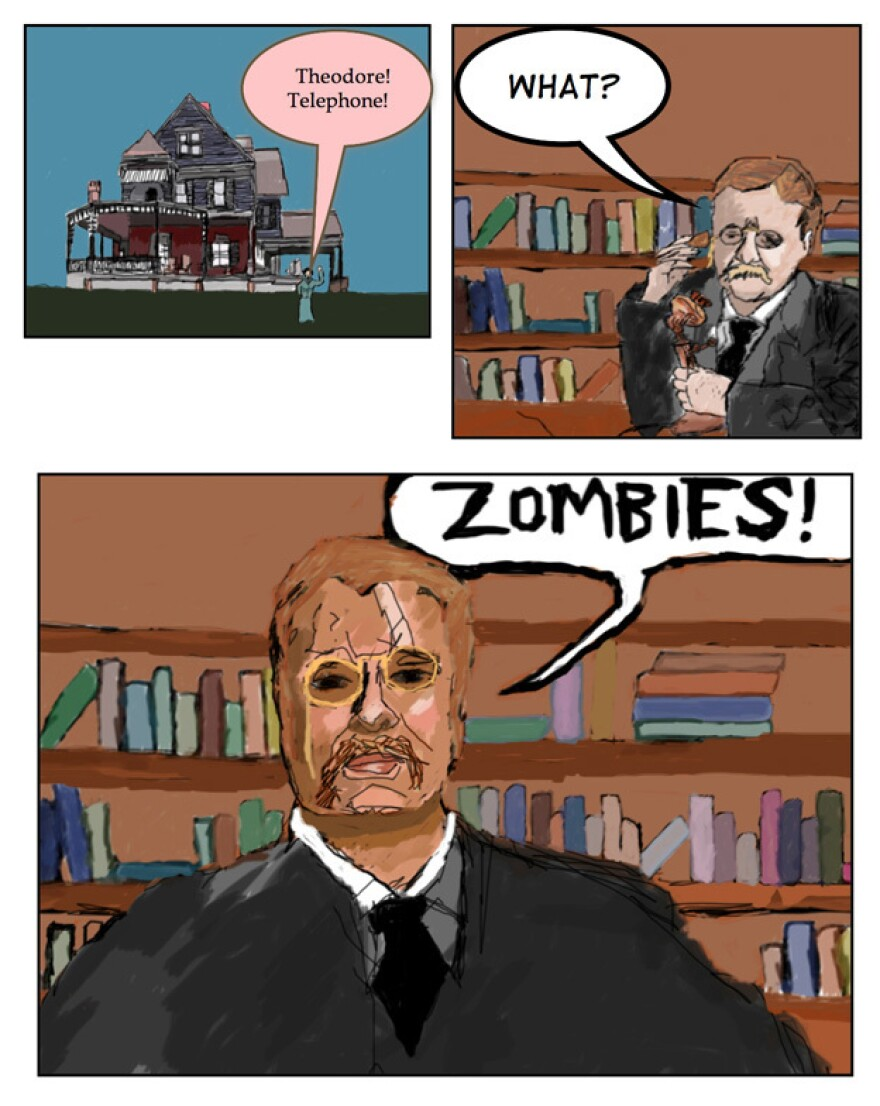 Dupree created webcomics — occasionally featuring Theodore Roosevelt and zombies — that reflected his quirky humor.