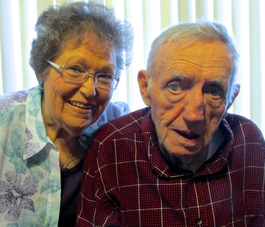 Shirley and Dale Brandenburger have been married 61 years.