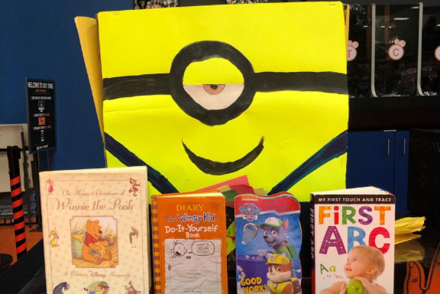 Sky Zone Tampa's Book Drive Box