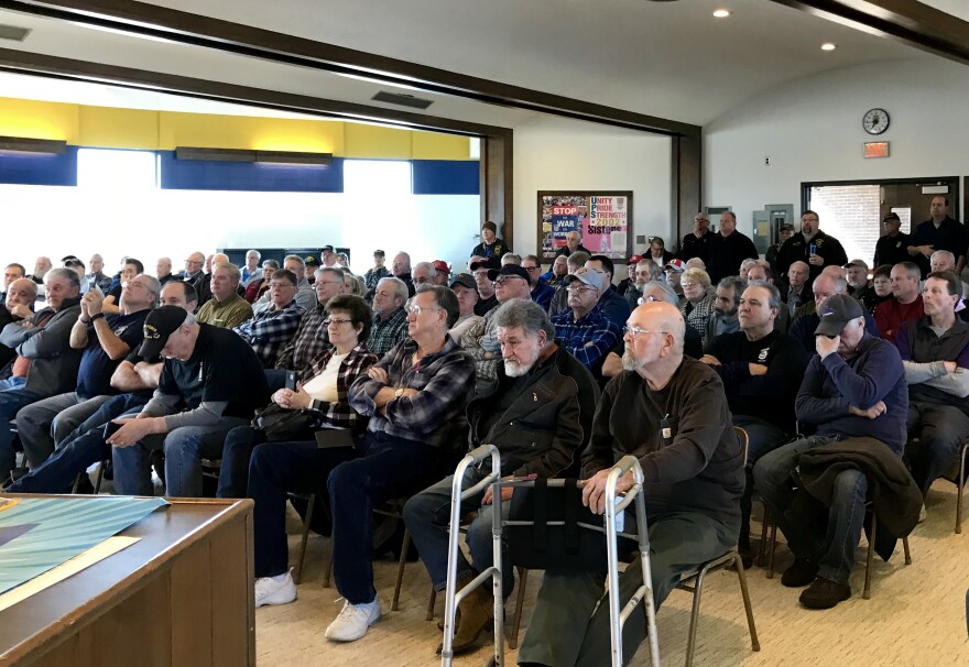 Teamsters retirees and active workers meet with Brown
