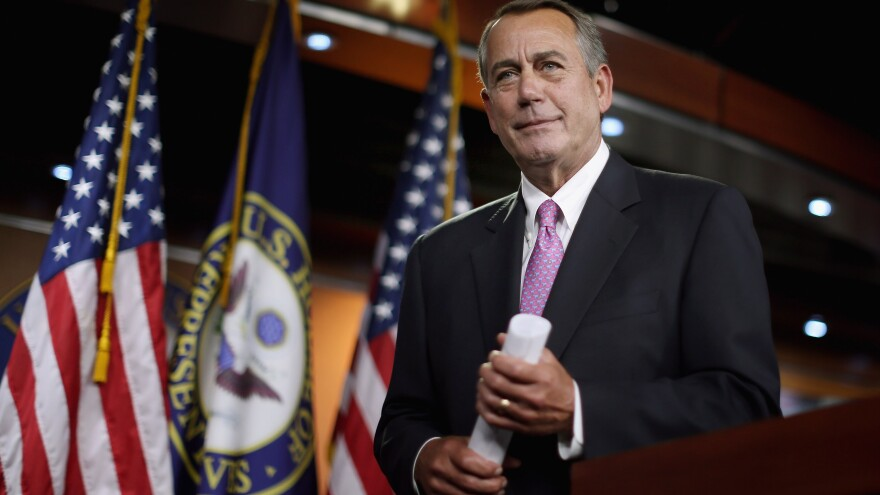 """That's a stupid question,"" House Speaker John Boehner said after a reporter asked him about Democratic claims that the GOP had cut Amtrak funding to unacceptable levels."