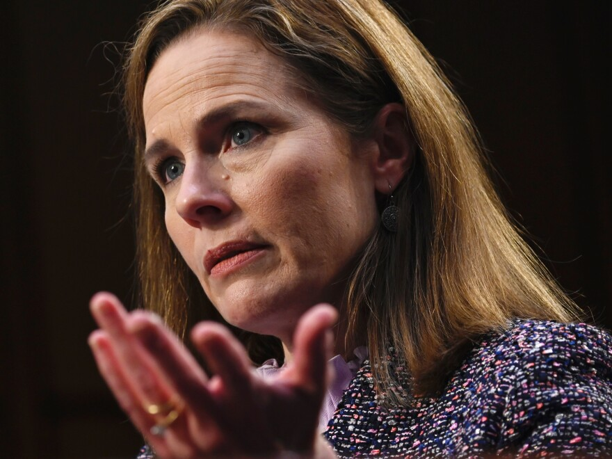 Justice Amy Coney Barrett heard her first arguments as a member of the U.S. Supreme Court.