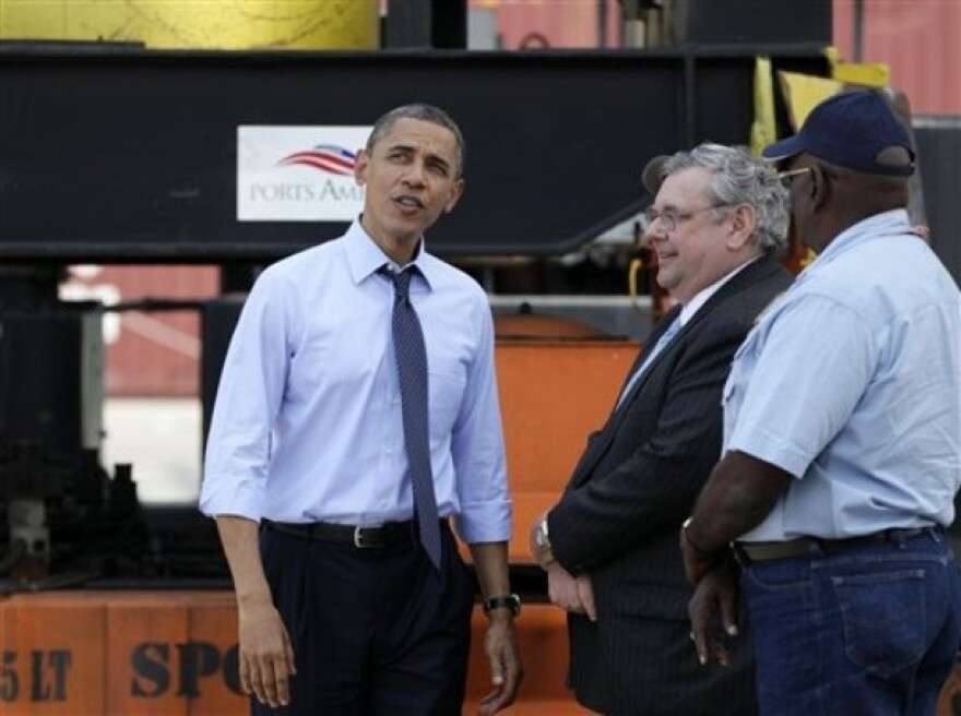 Obama at Tampa Port with Workers.jpg