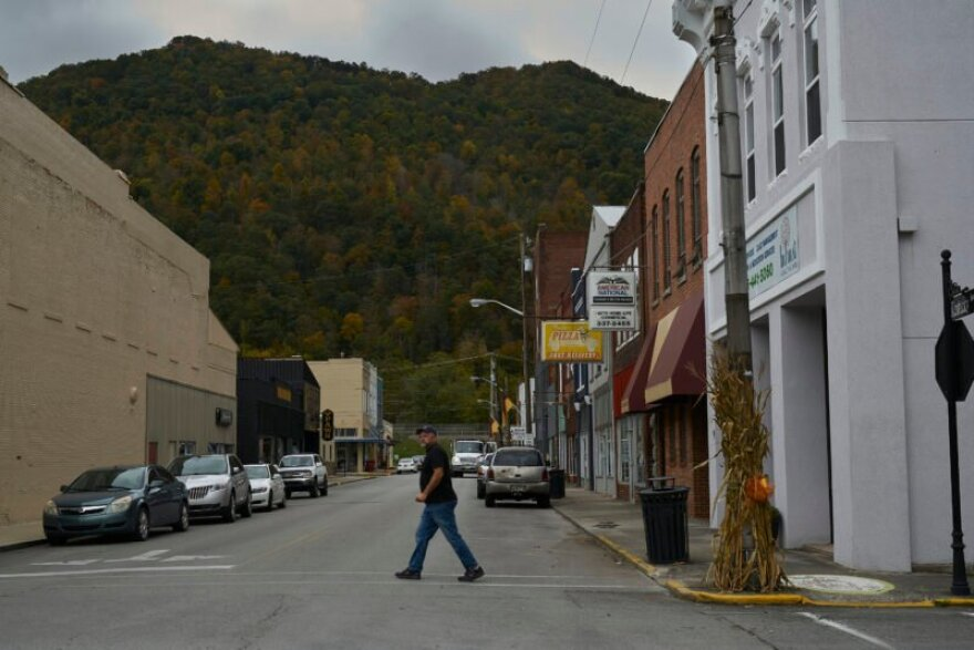 Downtown Pineville, Kentucky, a small town in Bell County near the future site of the Appalachian Wildlife Center.