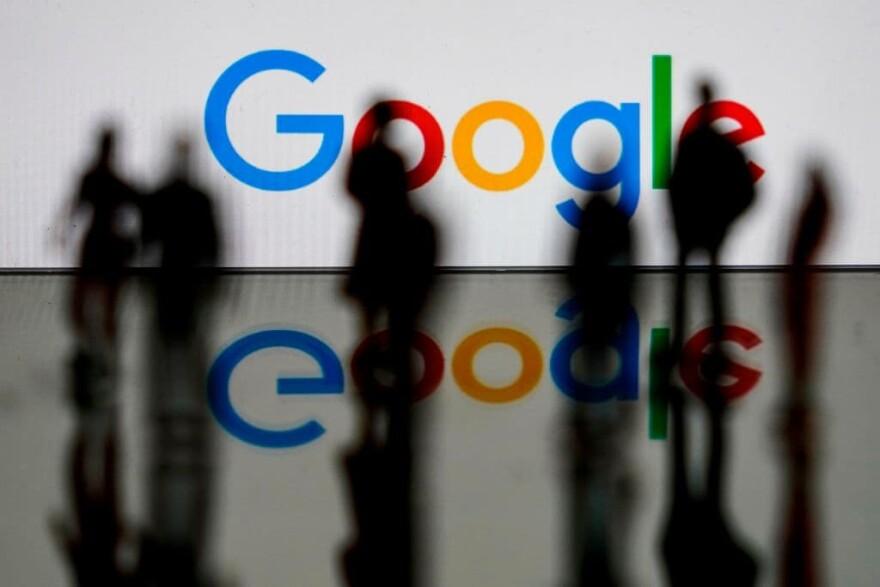 Google logo in Brussels. (Kenzo Tribouillard/AFP/Getty Images)