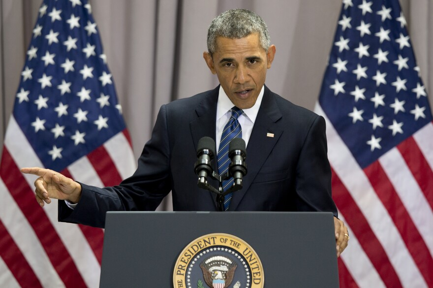 President Obama speaks about the nuclear deal with Iran at American University in Washington, D.C., on Wednesday.