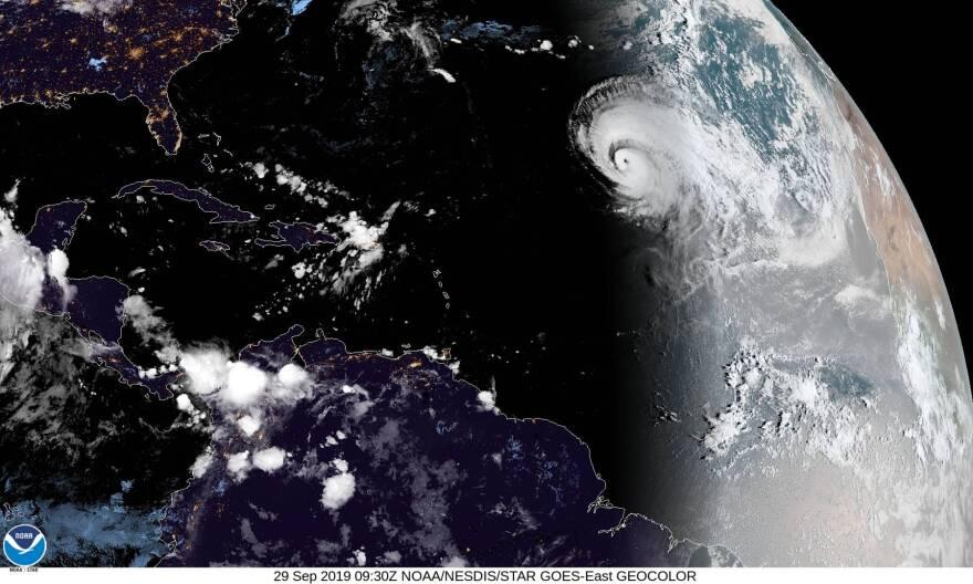 Hurricane Lorenzo as seen on satellite on Sept. 29, 2019.
