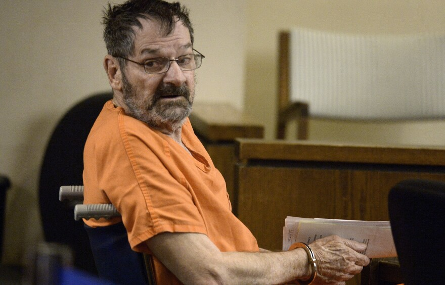 Frazier Glenn Cross, also known as Glenn Miller, sits in a Kansas courtroom last month after he was accused of fatally shooting three people.