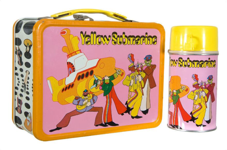 This 1968 <em>Yellow Submarine</em> Beatles lunchbox sold for $851.60 in 2011.