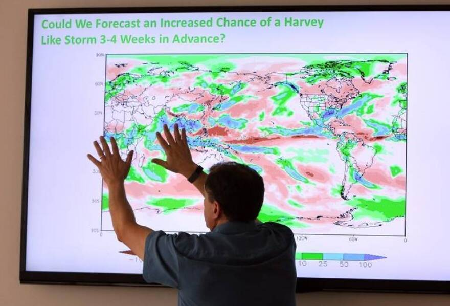 UM atmospheric scientist Ben Kirtman explains how his new forecasting tool will provide monthly weather forecasts. Over the summer, the model accurately predicted the chance of heavy rain a month before Hurricane Harvey hit Texas.