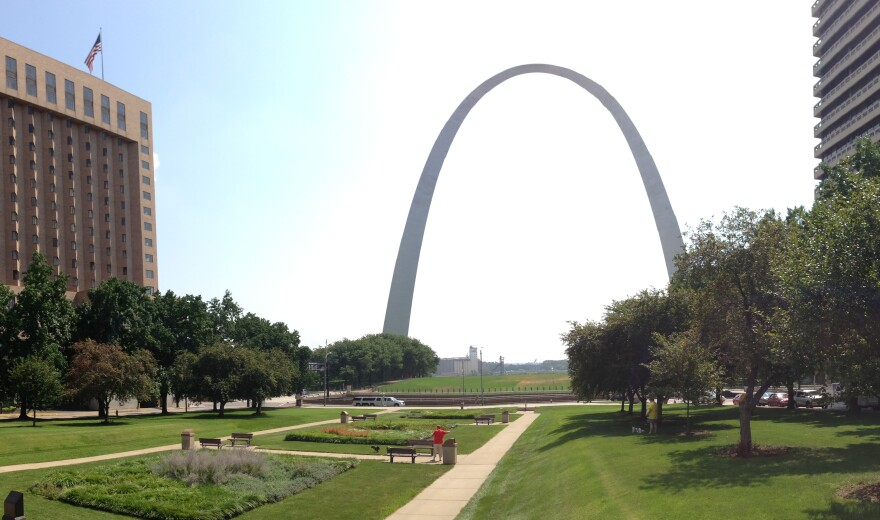 The Gateway Arch is one of the main attractions in downtown St. Louis.